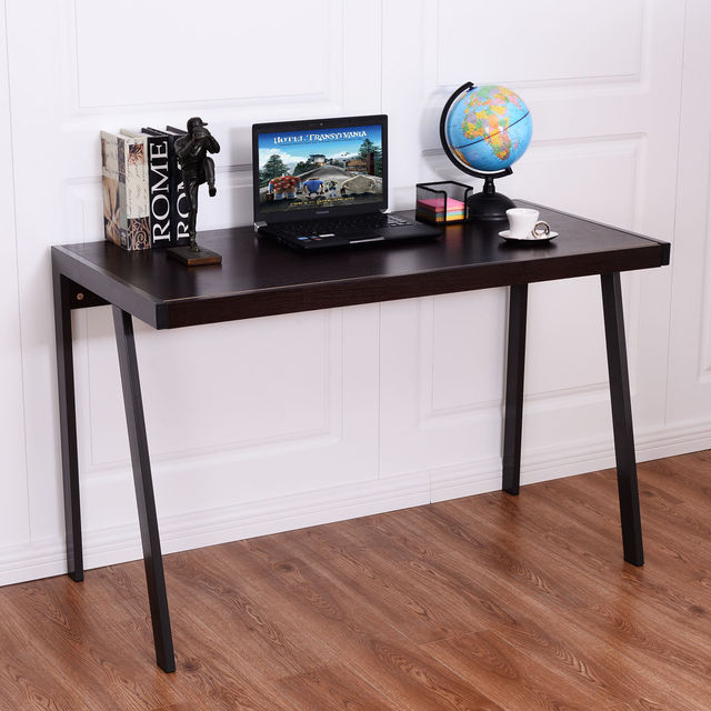 Giantex Wood Top Computer Desk Modern PC Laptop Table Study ...