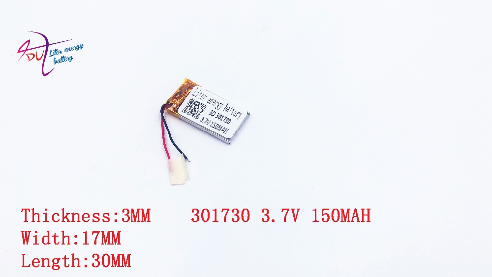 polymer lithium battery 301730 3.7V 301830 301733 301833  MP3 sound recording pen Bluetooth earphone point reading pen wirelpolymer lithium battery 301730 3.7V 301830 301733 301833  MP3 sound recording pen Bluetooth earphone point reading pen wirel