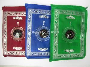 Image 1 - MA003 Travel muslim compass pocket size protable prayer mat 100*60cm