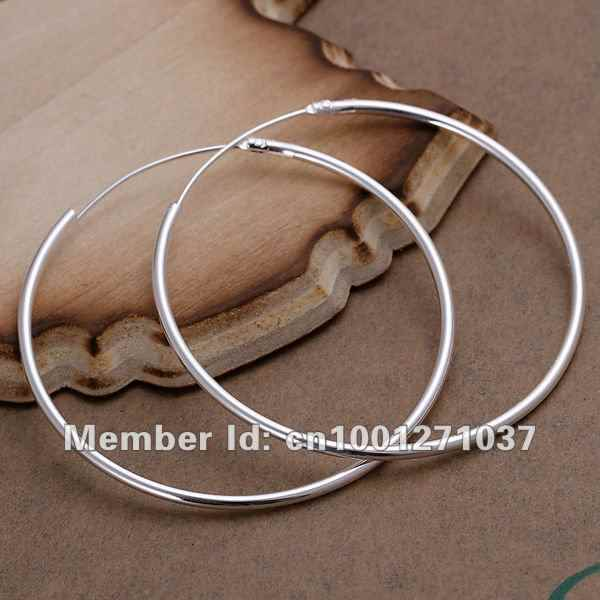 Wholesale 2017 Time-limited Promotion Classic E042 925 Sterling Fashion Jewelry Silver For Women Glossy Earrings
