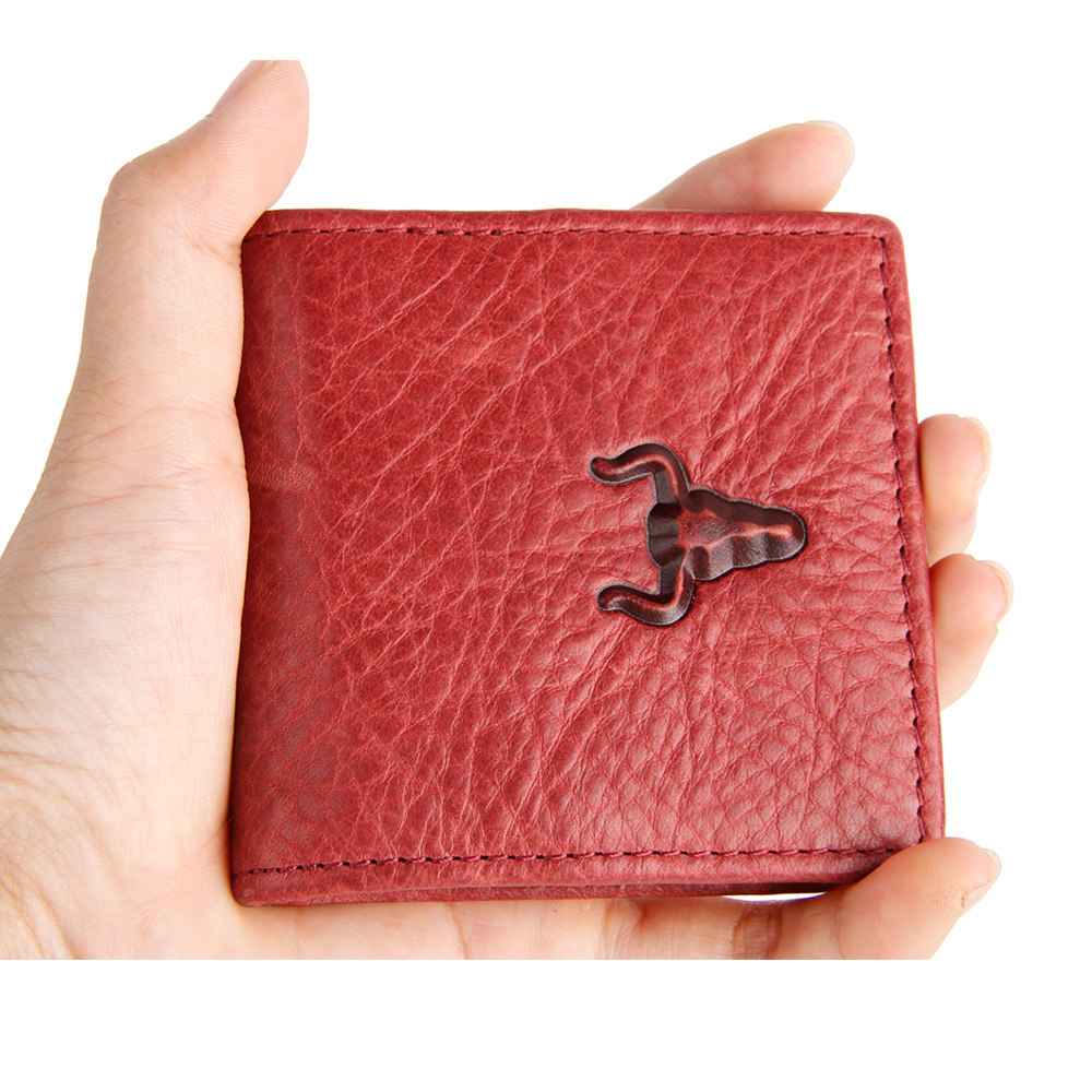 Mingclan Coin Purse Male Genuine Leather Hasp Small Purse Short Slim Ultra Light For Women Men Magnet Closur Change Coin Wallets