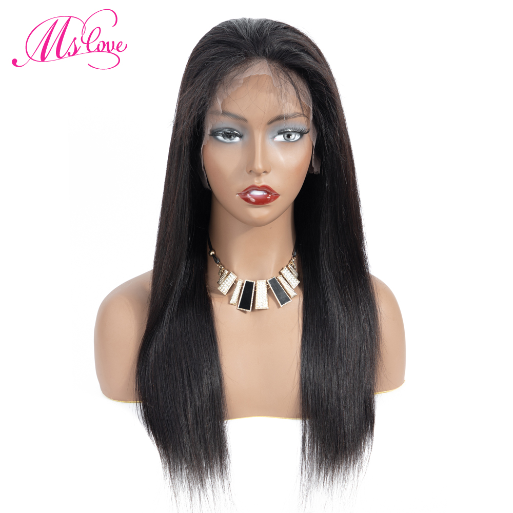 Ms Love 360 Lace Frontal Wig Straight Lace Front Human Hair Wigs For Women 150 Density