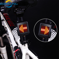 Waterproof 64 LED Intelligent Automatic Induction Steering Brake USB Charging Safety MTB Bicycle Taillight Warning Night