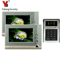 YobangSecurity 7 Inch Video Door Bell Camera Door Phone Intercom System Night Vision Home House Security 1 Camera 2 Monitor