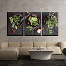 Herbs And Ingredients Diamond Painting 3pcs Embroidery Beaded Cross Stitch Needlework Wall Decor