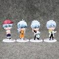 4 unids/lote 7 cm PVC action figure set figura Japonesa del anime gintama Q versión Mejores juguetes para niños juguetes