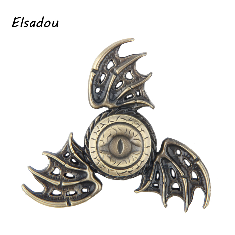 Fidget Spinner Dragon Wings Bat Game of Thrones Hand Spinner Finger Anti-Stress game of thrones rainbow hand finger fidget spinner eye electroplate hybrid bearing zilver zinc alloy metal edc hand tri spiner