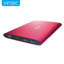 Vinsic Alien P2  Collector Edition Red Ultra Slim 20000mAh Power Bank Dual USB External Battery Charger Universal