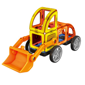 Image 5 - 60 pcs 3D DIY المغناطيسي البناء مجموعة نموذج و بناء لعبة البلاستيك كتل مغناطيسية الألعاب التعليمية للأطفال هدية للأطفال