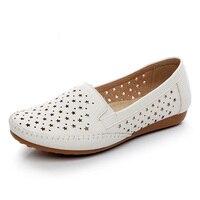 2019 летние дышащие женские мокасины; женская обувь на мягкой подошве; удобная повседневная женская обувь из мягкой искусственной кожи