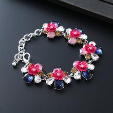2017 alulu Новый дизайн винтажные браслеты с цветами и кристаллами