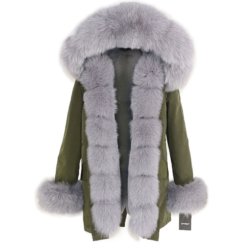 OFTBUY Waterproof Long Parka Winter Jacket Women Real Fur Coat Natural Fox Fur Collar Hood Thick Warm Streetwear Detachable New 91