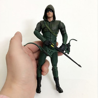 Hot Toy Juguetes 7'' Oliver Jonas Queen Green Arrow SuperHeros Joints Doll Action Figure Collectible PVC Model Toy for Gifts