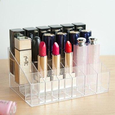 Divat Átlátszó kozmetikai doboz, asztali befejező doboz, - Szervezés és tárolás - Fénykép 1