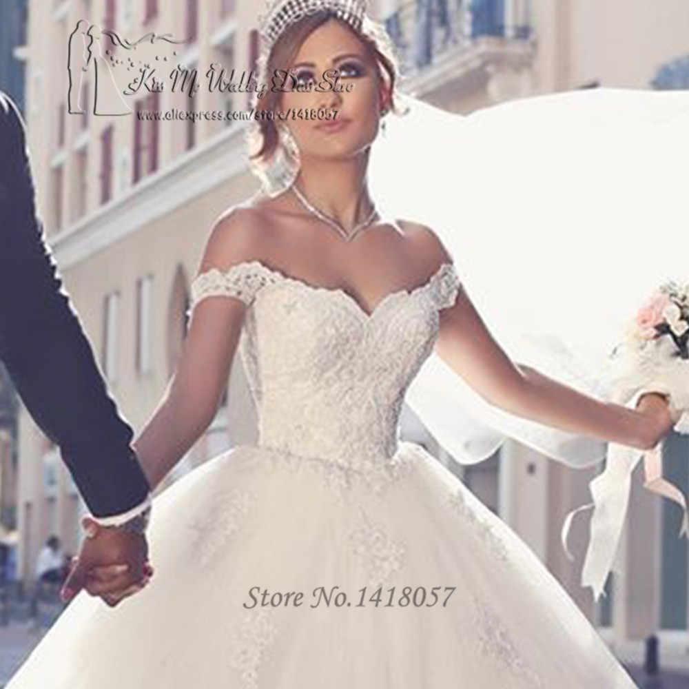 3d9b078929 ... Vestido de Noiva Princesa Com Renda Ball Gown Arabic Wedding Dresses  Turkey Wedding Gowns Lace Bride ...