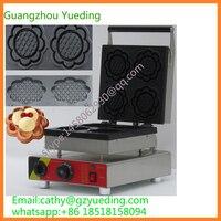 China hersteller schüssel form kegel waffeleisen mit 4 blume form-in Waffeleisen aus Haushaltsgeräte bei