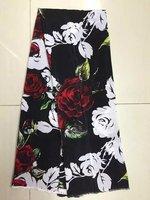 Digital inkjet silk double crepe fabric soft dress silk fabrics 100% silk fabric wholesale high quality silk cloth LX42316