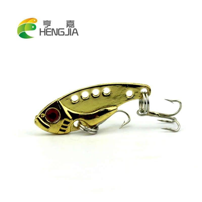 "HENGJIA קשה מתכת vib דיג פתיונות 3.5 ס""מ wobbler רטט פייק קרפיון פורל שפמנון דיג batis pesca ציוד דייג פתיונות"