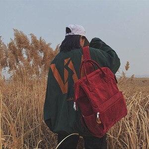 Image 4 - 2019 Kadife Sırt Çantaları Kadın Genç Kızlar Için Okul Çantaları Mochila Büyük Kapasiteli Rahat seyahat sırt çantaları Kadın Sırt Çantası