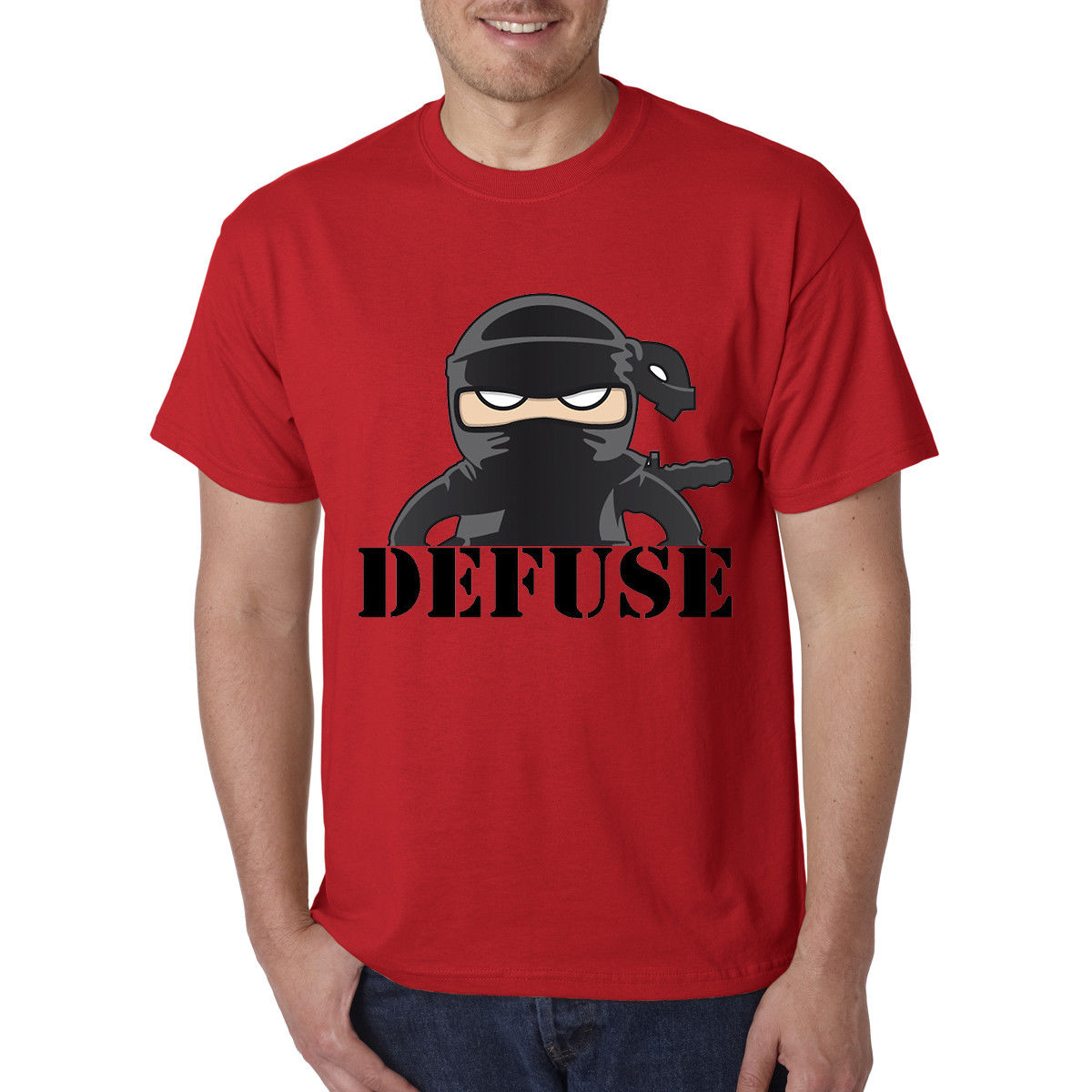 CS Go Counter Strike Defuser Gaming Shooting Funny T-Shirt - Best Birthday Gift Movie Shirt