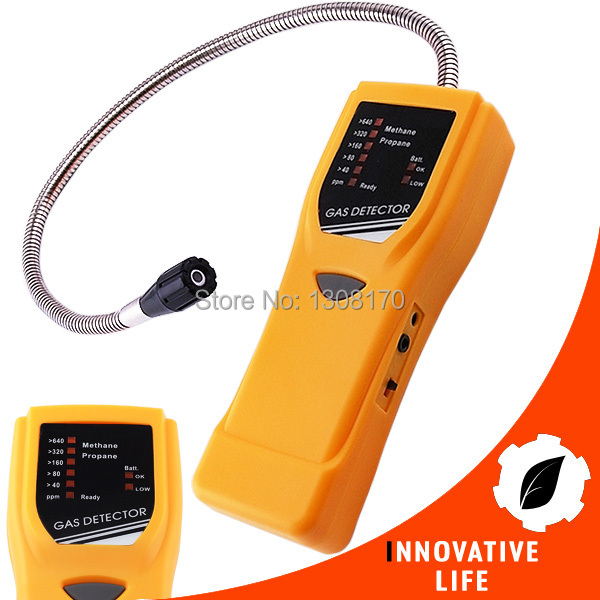 Combustible Methane Propane  Gas Leak Detector Alarm Semiconductor Sensor 40-640ppm Range