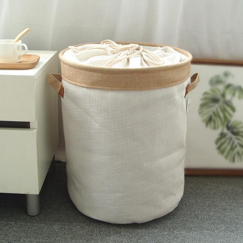 ピクニックバスケットスタンド洗濯バスケットおもちゃの収納ボックス大型バッグ綿洗濯汚れ服ビッグバスケットオーガナイザー · ビンハンドル 109 -