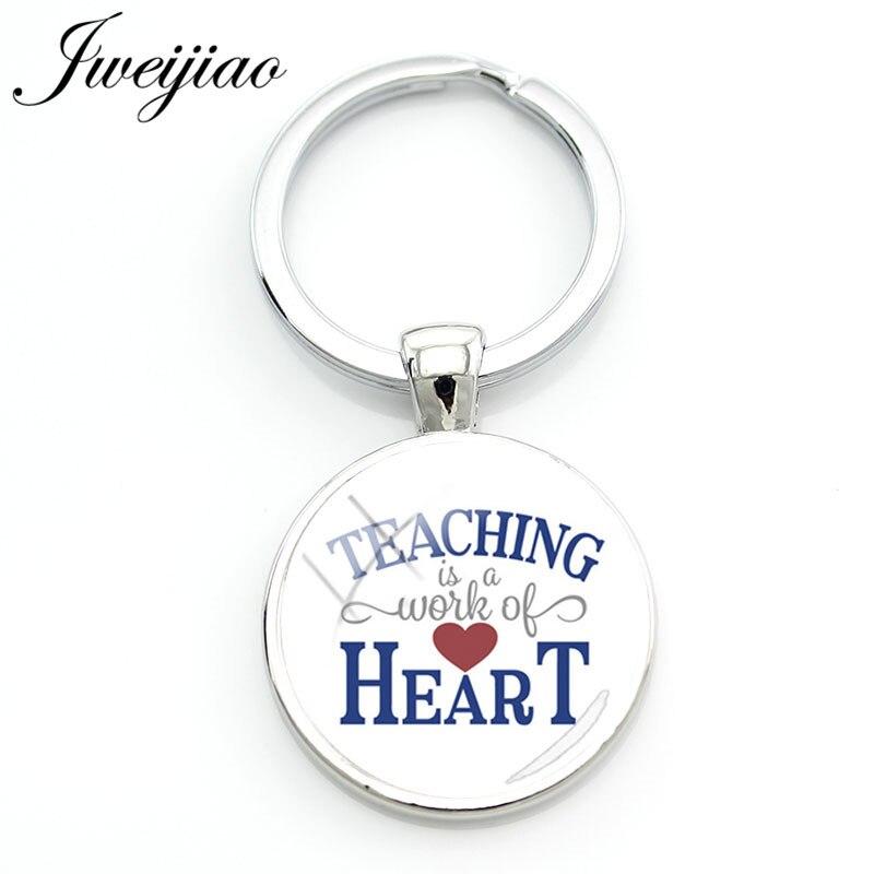 JWEIJIAO учитель является Wrok сердце брелок великий учитель подарок пользовательские брелок сумка ключ подвеска Подвески FQ417