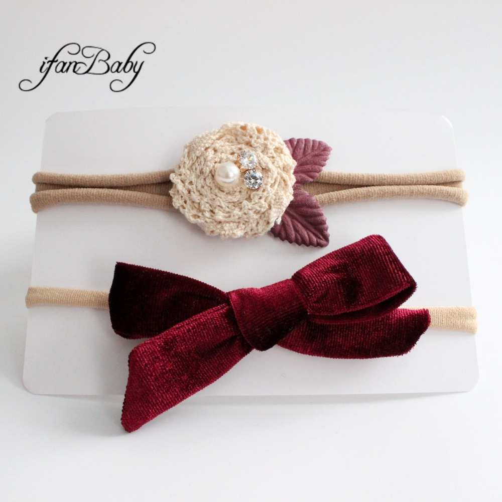 kids girl fabric flower headband nylon headband (13)