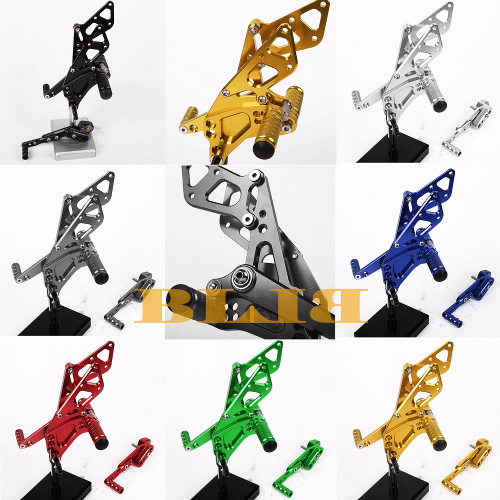 8 Colors For Suzuki GSXR 1000 2009-2016 CNC Adjustable Rearsets Rear Set Motorcycle Footrest Foot Pegs 2010 2011 2012 2013 2014 car rear trunk security shield shade cargo cover for nissan qashqai 2008 2009 2010 2011 2012 2013 black beige