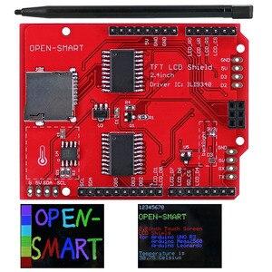 Image 2 - 2.4 אינץ TFT LCD תצוגת מודול מגע מסך מגן ILI9340 IC המשולב טמפרטורת חיישן + עט עבור Arduino UNO R3 /מגה 2560 R3