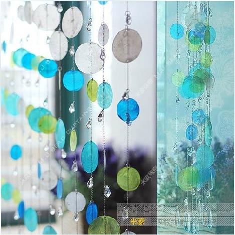 Προσαρμοσμένες 5 χορδές Κοχύλια χάντρα κουρτίνα πόρτα διαχωριστικό πόρτα κουρτίνα διακόσμηση κουρτίνα Διακοσμήστε Χριστούγεννα, χώρο γάμου