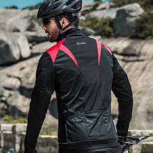 Image 5 - Santic Men Cycling Jacket Autumn Winter Windproof MTB Jackets Coat Keep Warm Breathable Comfort clothes Asian size KC6104