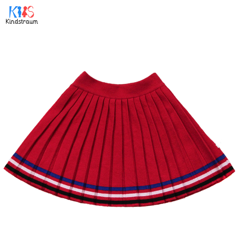 Kindstraum 2017 New Design Kids Cotton Skirts Spring & Autumn Children Striped A-Line Wear School Skirt for Girls,RC1110