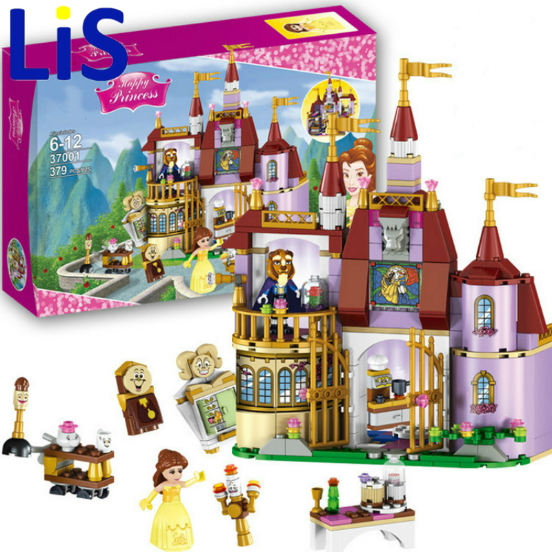 Lis 37001 Princess Belles Enchanted Castle Building Blocks for Girl Friends Kids Model Marvel Compatible with Lepin Toys Gift lepin 16008 4160pcs cinderella princess castle city model building block kid educational toys for gift compatible legoed 71040