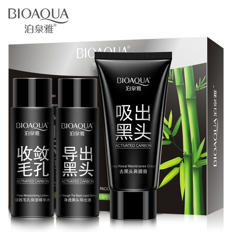 Treatments & Masks Bioaqua Bamboo Charcoal Black Mask 3 Steps Deep Cleansing Purifying Remover Blackhead Anti-acne Nose Mask Face Mask Face Care