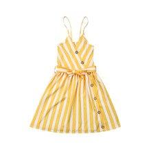 Платье для девочек г. летняя одежда для маленьких девочек Полосатые вечерние платья макси с открытой спиной Длинный Сарафан