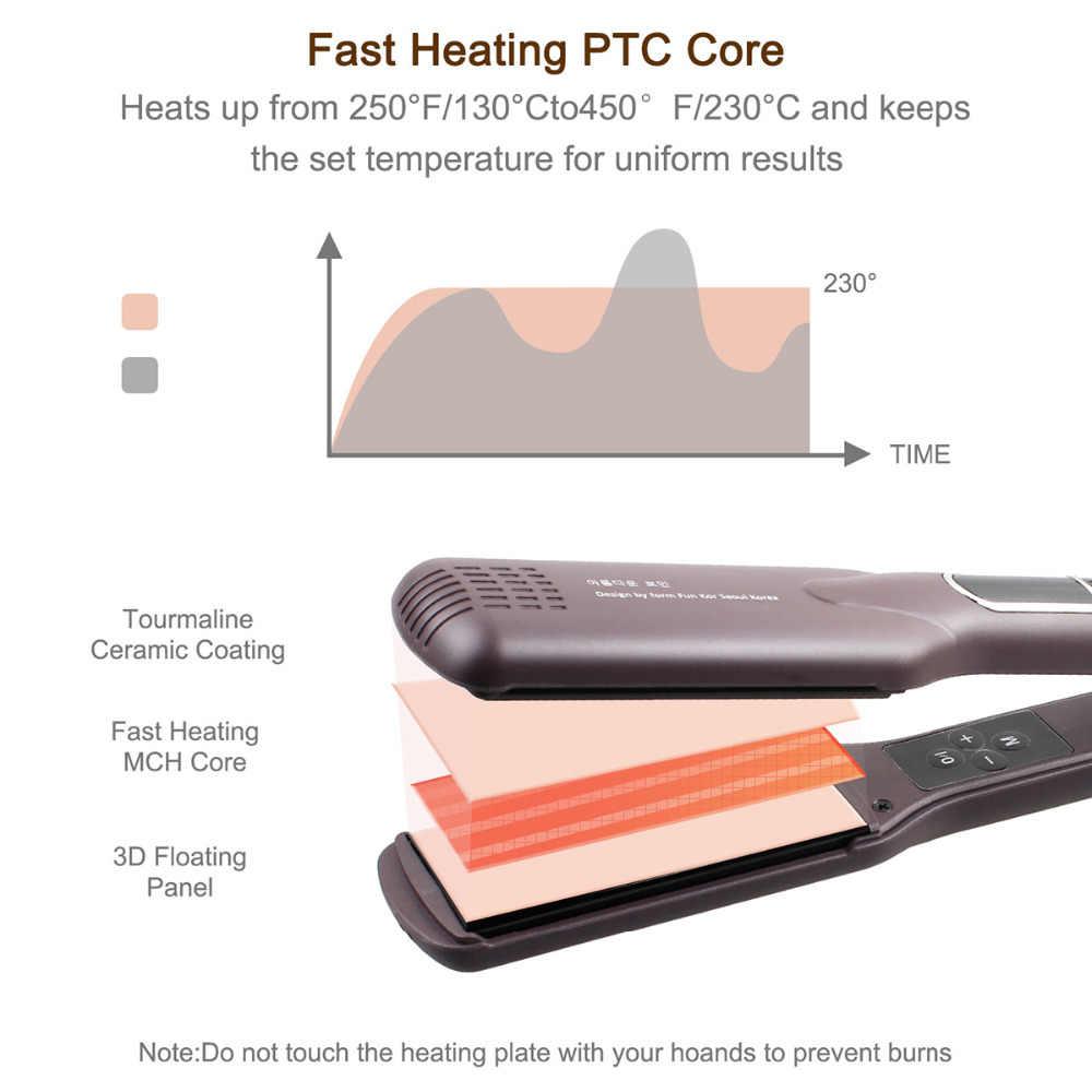 MADAMI MCH טכנולוגיה מקצוע שיער Straighteners שיער הגנה Plancha קרמיקה טיטאן ביתי מהיר סטיילינג שטוח ברזל