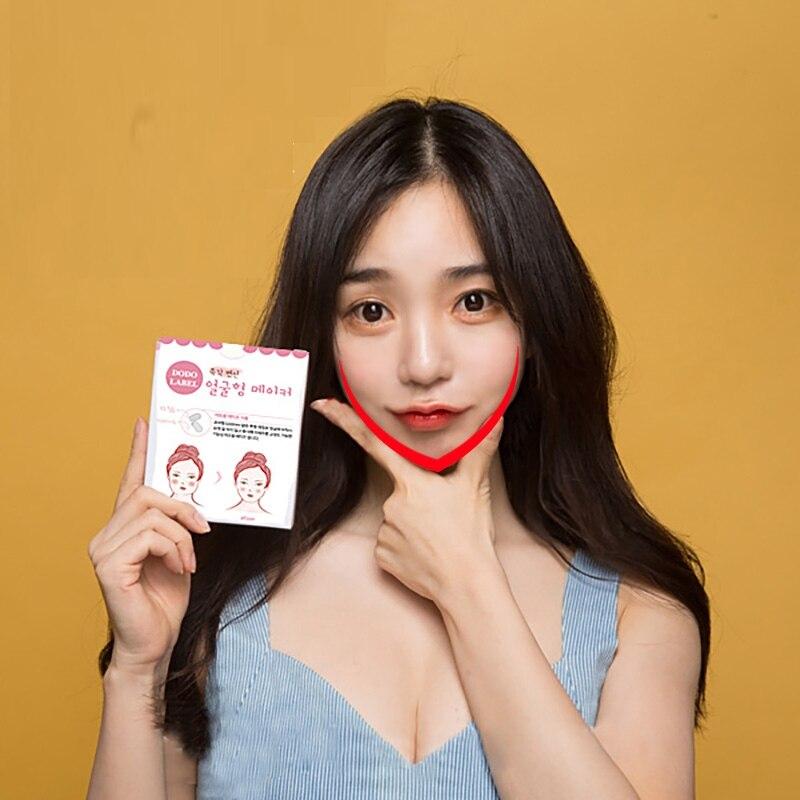 Face-Lift-V-Sticker-Makeup-Face-Chin-Lift-Tools-Thin-Artifact-Invisible-Medical-Tape-40pcs