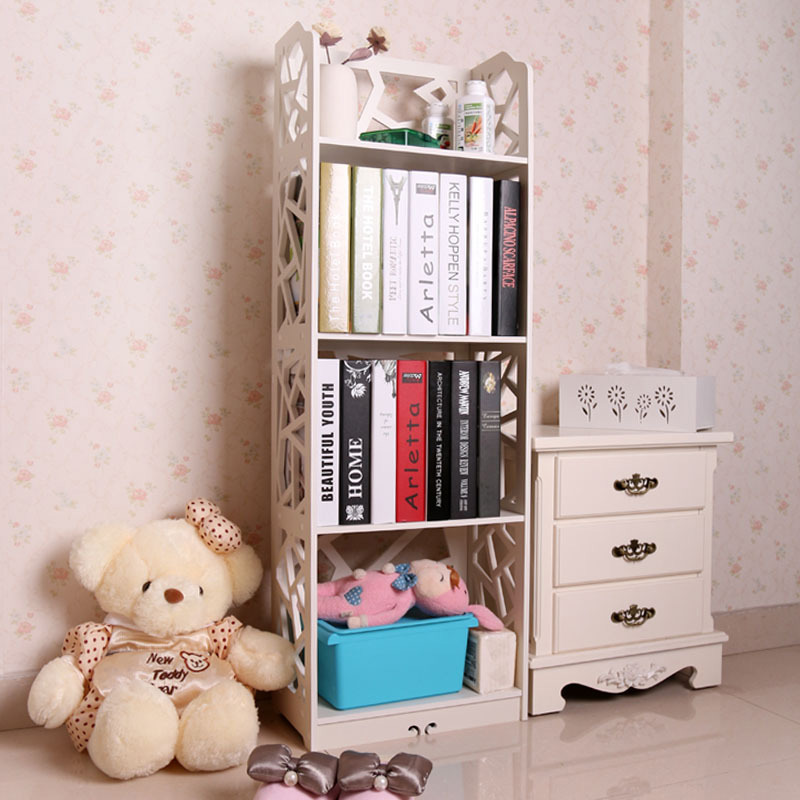 4 Tiers Waterproof Wood Book Shelf Shoes Rack Shelves Holder Storage Home Organizer 120*40*23cm wooden struction leather floor magazine book exhibition rack shelf organizer holder croco brown 230a