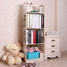 4 Tiers Waterproof Wood Book Shelf Shoes Rack Shelves Holder Storage Home Organizer 120*40*23cm