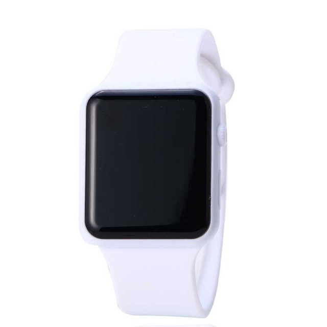 New Korea Style Student Wristwatch LED Electronic Wrist Watch Candy Color Silico