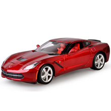 1:18 Free Shipping Supercar Chevrolet Corvette C7 Z51 Diecast Car Model Toy Car Model Electronic Car with Kid Toy High Quality