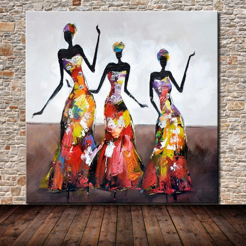 Mintura <font><b>Hand</b></font> <font><b>Painted</b></font> Dancing <font><b>Girls</b></font> <font><b>Oil</b></font> <font><b>Painting</b></font> <font><b>On</b></font> Canvas <font><b>Modern</b></font> <font><b>Abstract</b></font> Wall Art Wall Pictures For Living Room Home Decoratin