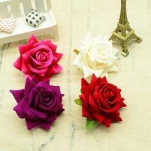 100 pçs qualidade flores artificiais para o natal decoração de casa casamento acessórios de noiva diy grinalda presentes um tampão rosas de seda
