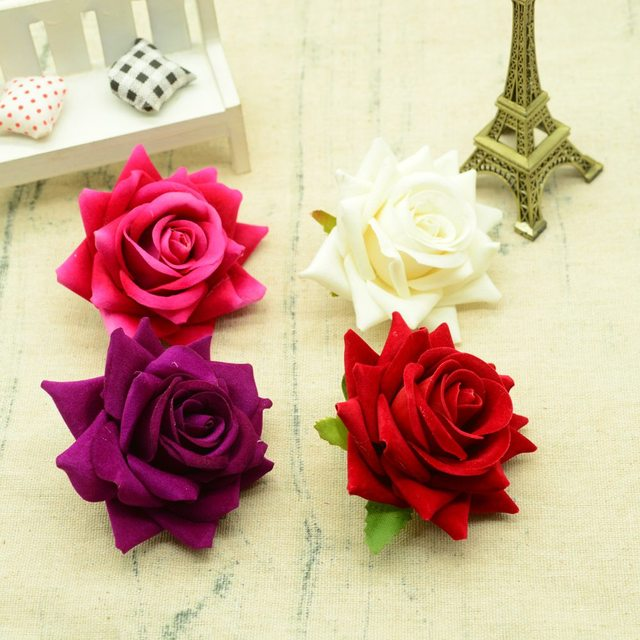 100pcs Quality artificial flowers for christmas home decoration wedding bridal accessories diy wreath gifts a cap Silk roses