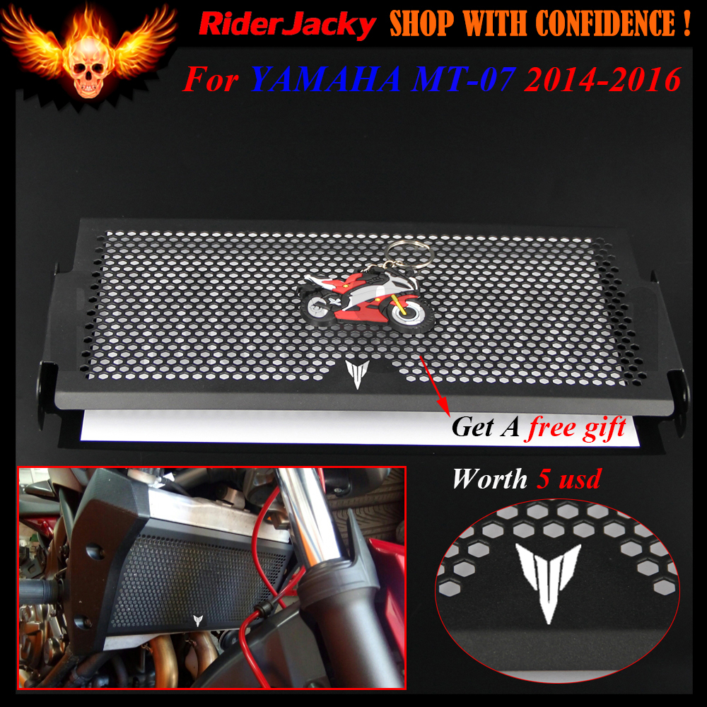 Black Stainless Steel Motorcycle Radiator Grille Guard Cover Protector For YAMAHA MT 07 MT07 MT-07 FZ-07 FZ 07 2014-2016 2015 for yamaha xjr 1300 xjr1300 1998 2008 99 00 01 02 03 04 05 06 07 motorcycle oil cooler protector grille guard cover