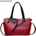 Pájaros de vuelo bolso de totalizador de las mujeres de cuero de las mujeres bolsos de hombro bolsas de alta calidad mujeres de lujo de estilo Nacional del bolso monedero LM3945fb