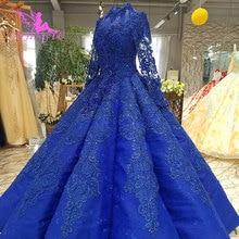 AIJINGYU, vestido de novia marroquí, diseños en Dubai, con cristales, Corset de encaje, vestido barato a la venta, vestidos de boda, Reino Unido
