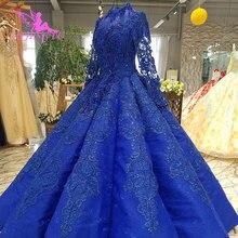 AIJINGYU מרוקאי חתונה שמלת שמלת עיצובים בדובאי עם גבישי מחוך תחרה זול שמלת למכירה זול חתונה שמלות בריטניה