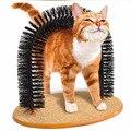 1 pc Novo Gatinho Gato de Estimação Arco Cerdas Auto Groomer Massageador Scratcher Whith Catnip Brinquedo Frete Grátis